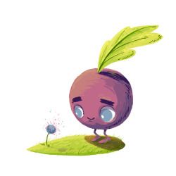 Matt's incredibly adorable sprout character which I could not resist drawing!