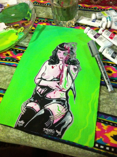 Sneaky progress shot…. Bettie Page
