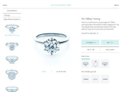 typography on Tiffany & Co. Engagement Ring Finder