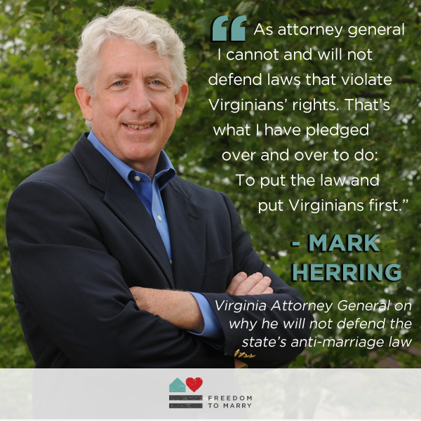 Reblog this great quote from Virginia Attorney General Mark Herring, and read more: http://bit.ly/1iqcoV0
