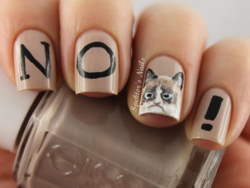 spektorsnails:  Grumpy Cat Nails