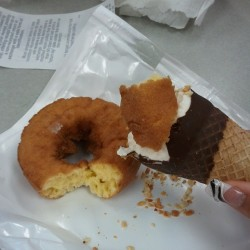 Donuts and Ice Cream, at the same damn time! #onlunchatwork