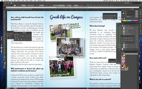 Designing Greek Life brochure!