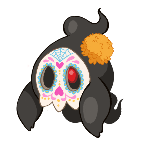 sugar skull dia de los muertos pokemon duskull
