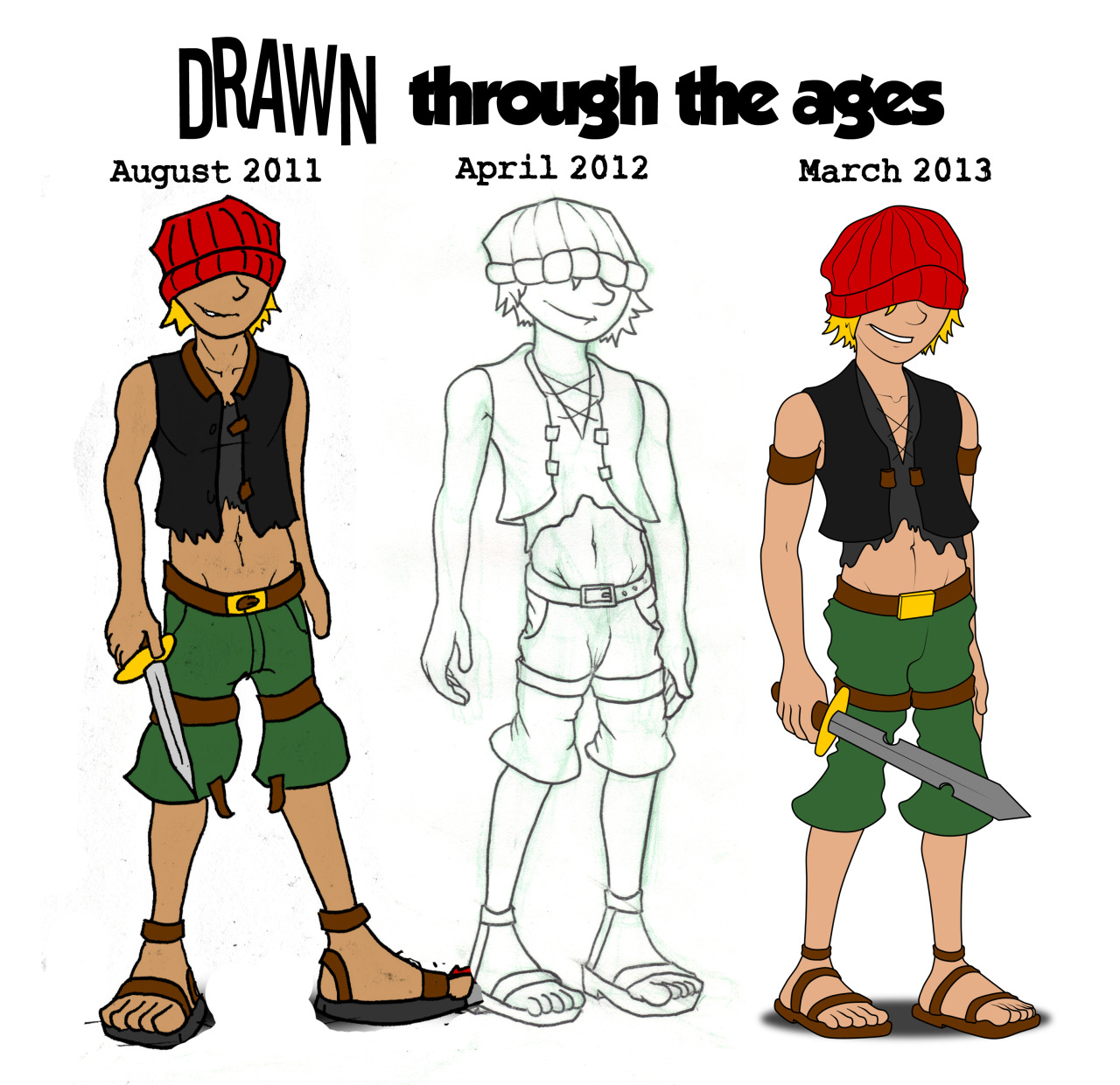Drawn Through The Ages I went through many different art styles before arriving at the one I currently use. Check out the first drawing I did of Drawn back in August of 2011, all the way up to the style I use now in 2013 More comic pages coming, hang in there guys! By the way, go click on some of those advertisements at the side. Even if you don't actually view them, just the clicks really helps me out!