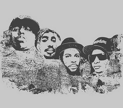 hiphopfightsback:  Biggie, Tupac, Jam Master Jay, & Eazy-E I'm out for dead fuckin' presidents to represent me.