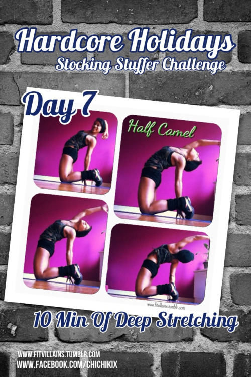 Hardcore Holidays! Day 7: STRETCH. :) Take a hot shower or do a few sun salutations to warm yourself up. All you need is a mat and 10 minutes. :) Do your own thing or follow along with any of the routines below! It's a great way to end the week. :) See the rest of the Hardcore Holiday Challenge. Quick Routines 5 Minute Beginner Basic Stretch (Diet.com) - Do this video twice, and you're good to go! Perfect for beginners. 10-Minute Stretching Routine for Runners - Fabulous to hit all the spots runners need to focus on. Tone It Up - Stretch And Release - A great routine for intermediates. Get your stretch on with Karena from Tone It Up. Yoga Relax - 10 Minutes Gentle Yoga Class- Very gentle yoga routine. Ideal for beginners. Or try any of these videos to help you improve your range of motion & flexibility!  Gentle Yoga Routine with Tara Stiles Gentle Yoga for Tight Legs and Hips Sadie's Super Shoulder Stretches Yoga Pick Me Up : Sadie Nardini- BeFit Yoga Flexibility and Range of Motion | Beginner Yoga Flexibility Flow Routine | Advanced Yoga