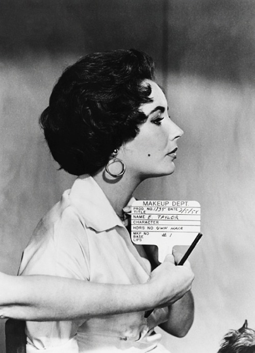 theniftyfifties:  Elizabeth Taylor hair test for 'Cat on a Hot Tin Roof' 1958.