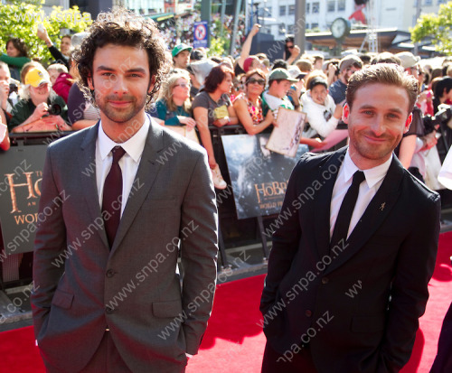 Aidan Turner & Dean O'Gorman at the Hobbit: An Unexpected Journey World Premiere in Wellington, NZ