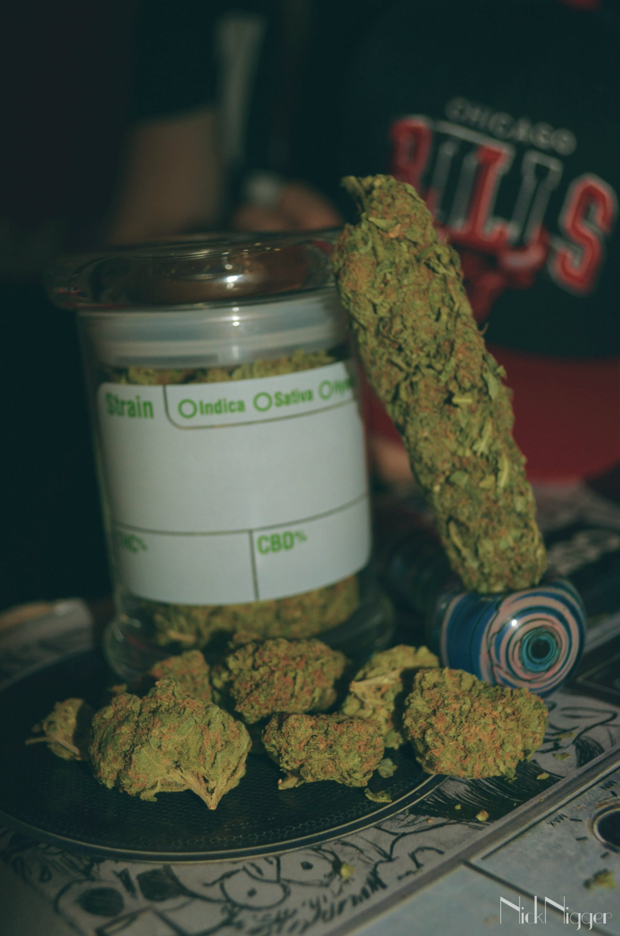 nicknigger:  Big bud of Maui Wowie+ jar full of MW, & Mr.Nice guy buds,