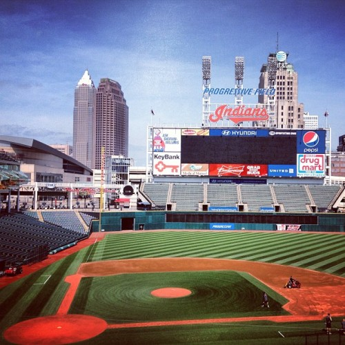 It's a perfect day for #Cleveland #Indians baseball…see you soon, #TribeTown (at Progressive Field)