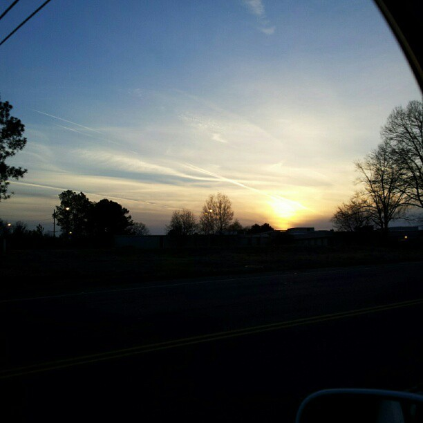 Another #Alabama #sunset on the way home. #sunset_madness #insta_pick_skyart #cloudy #sky #Shadows #nature #sun