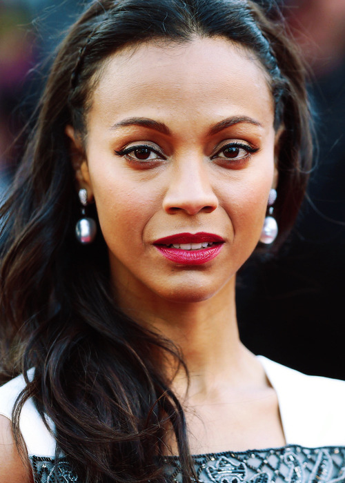 Zoe Saldana at the premiere of 'Blood Ties' at the 66th Annual Cannes Film Festival