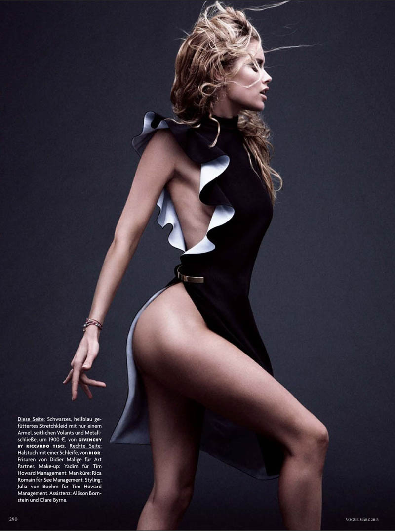 Doutzen Kroes by Daniel Jackson for Vogue Germany, March 2013.