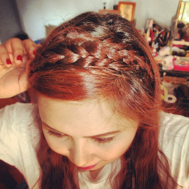 #latepost double #braid #hairband #hair