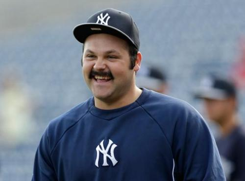 Native Yankees Pitcher Joba Chamberlain's Moustache Is in Mid-Season Form Perhaps the most eye-catching player development this MLB Spring Training has been the growth of a bushy upper-lip warmer on the mug of New York Yankees pitcher Joba Chamberlain, Winnebago Tribe of Nebraska.