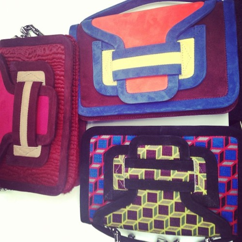 officialstyledotcom:  Color block bags at Pierre Hardy #prefall. What's your fave?