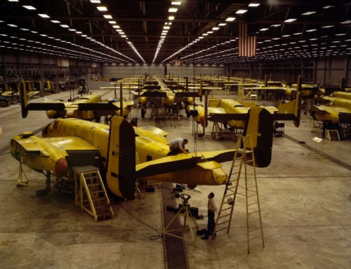 demons:  Plant workers assembling the B-25 Mitchell at the Fairfax Plant in Kansas City, Kansas
