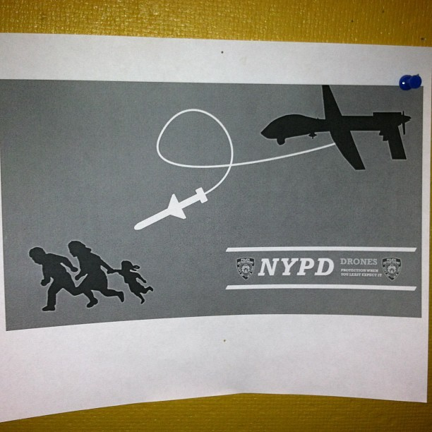 Protection when you least expect it #NYPD #Drone #BigBrother #1984