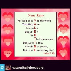 #Repost from @naturalhairdoescare Amen.