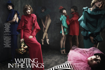 crfashionbook: WAITING IN THE WINGS A cast of characters inhabits an eerie backstage limbo between roles and reality Read More