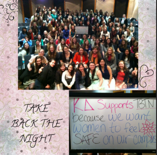 Eta Lambda Supports F&M's Take Back The Night.