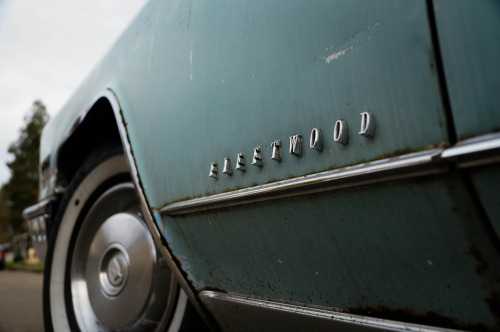 chromeography:  1966 Cadillac Fleetwood Brougham (by Other People's Things) I love badges that come off the body on an angle.