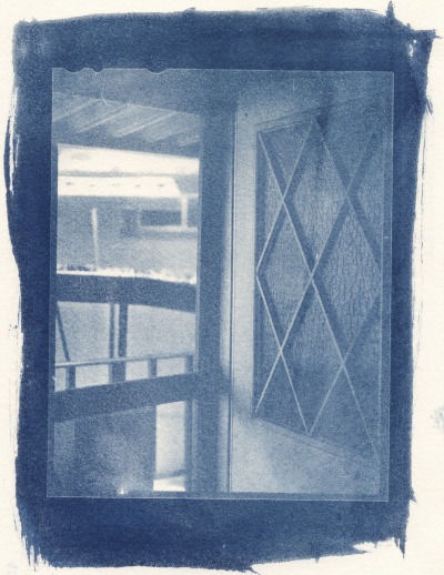 Open Door | Jennifer R. Biggerstaff Photography Cyanotype, 4x5 film negative