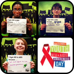 It's National Youth HIV + AIDS Awareness Day! Tell us: why does your GSA fight AIDS?