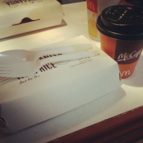Home from Misa de Gallo. Breakfast. Ü #8thDay #MCDO