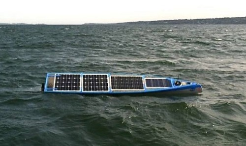 """Students' robotic solar boat on transatlantic trek """"It was an audacious undertaking, an engineer-nerd project nonpareil, a bunch of college students building a robotic solar-powered boat and setting it off on a voyage across the Atlantic Ocean. And amazingly,after a few delays, it's on its way."""""""
