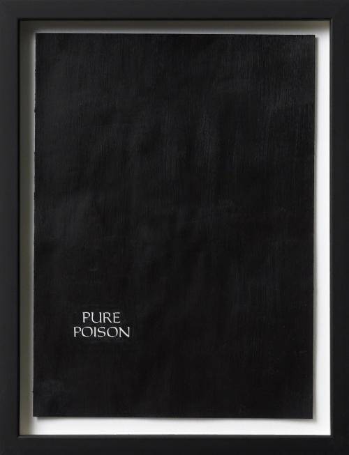 KASPER SONNE Untitled (Pure Poison), 2009 Acrylic on magazine advertisement