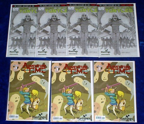 Adventure Time and TMNT Hastings Variants
