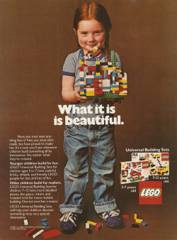 miss-rjs:  Back when lego wasn't sexist and understood that girls like to build things from scratch, too.