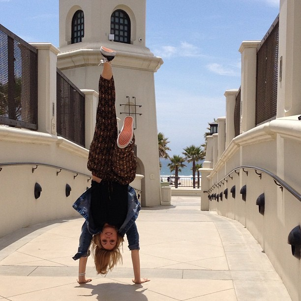 Flippin' out in Huntington Beach.