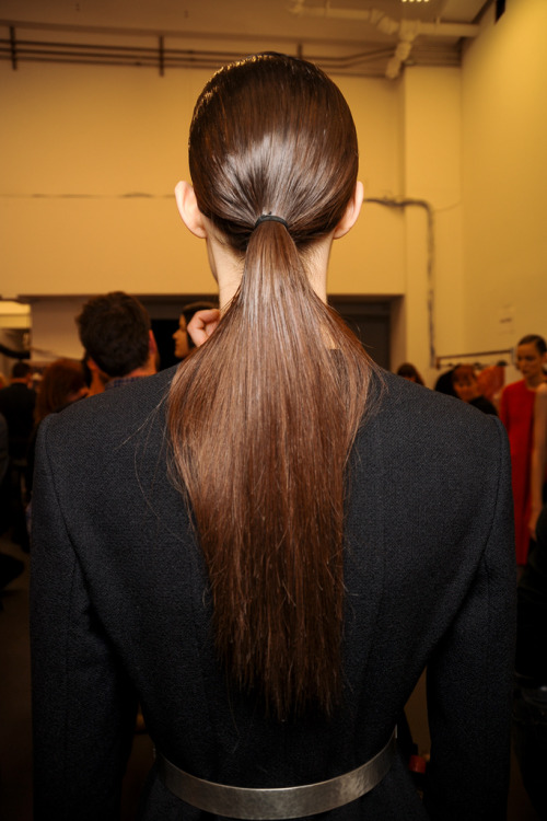 magico-valentino:  Backstage at Calvin Klein A/W 2012 in New York