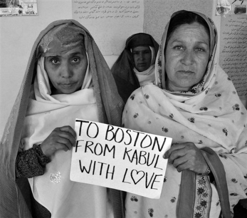 nbcnews:  To Boston From Kabul With Love (Photo Courtesy Beth Murphy / Principle Pictures) KABUL – After more than three decades of war, you would think Afghans would be desensitized to violent attacks like the Boston Marathon explosion. A Boston-based documentary filmmaker found just the opposite. Read the complete story.