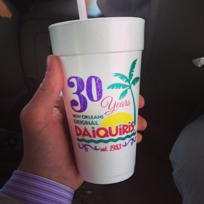 Within in 10 minutes of landing. #nola #daiquiris