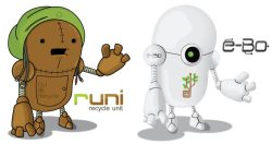 Illustration proposals for E-waste Guatemala character ©che502