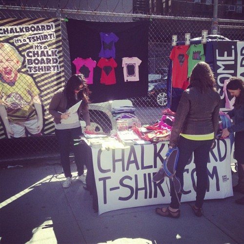 Chalkboard Tees flying off the shelves at #SaintAnthonys #Market #Soho #NYC #BeAwesome #ImAwesome