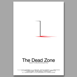 The Dead Zone: Continuing our journey through the mind of Stephen King, here is our alternate movie poster design inspired by The Dead Zone.