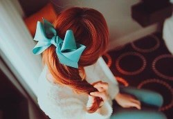 orange haire beautiful girl ^_^
