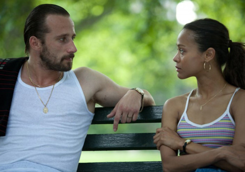 Zoe Saldana and Matthias Schoenaerts in Blood Ties