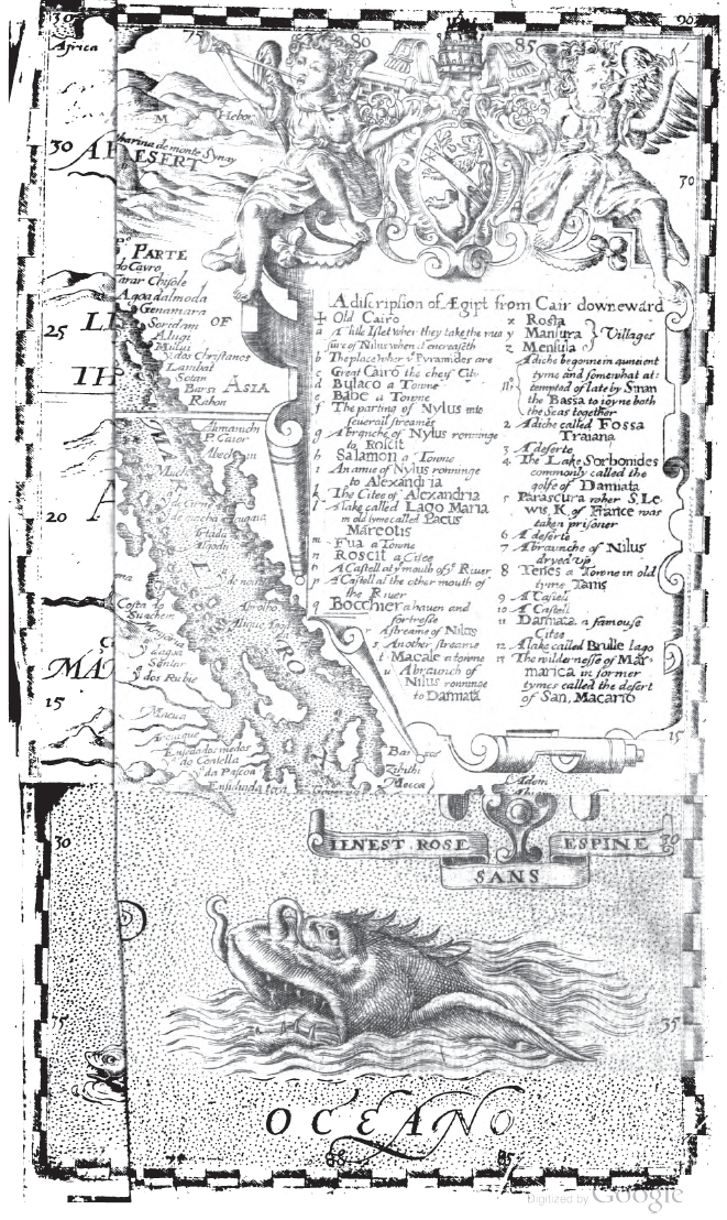 Map left folded. From p. 297 of Iohn Huighen Van Linschoten, His Discours of Voyages Into Ye Easte [and] West Indies: Deuided Into Foure Bookes by Jan Huygen van Linschoten (1598). Original from the Complutense University of Madrid. Digitized February 10, 2009.