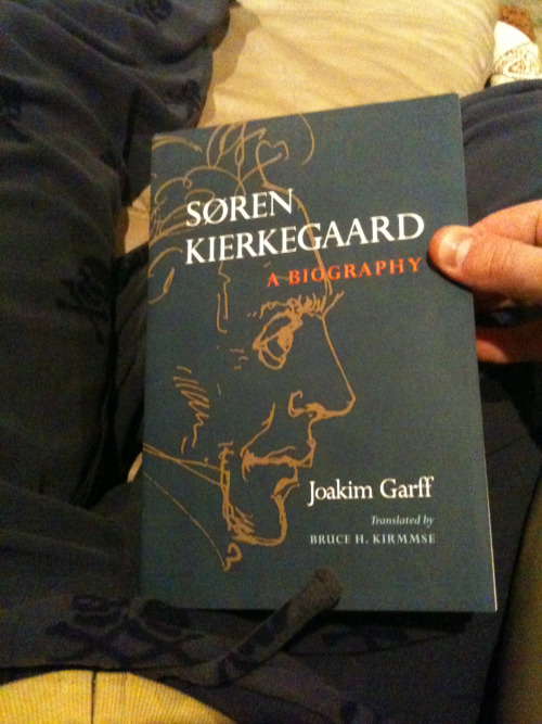 My favorite Christmas gift - Joakim Garff's biography of Kierkegaard. And those skull and crossbones microfleece pants? My second favorite gift.
