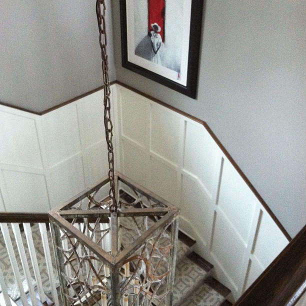 Staircase detail at O'More Designer Show House, presented by @traditionalhome.