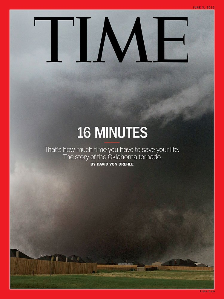 timemagazine:  This week's new issue of TIME, hitting newsstands and tablets Friday, May 24, is dedicated to covering the devastation that followed the pivotal 16 minutes between when sirens first alerted Moore residents and when the tornado touched down. (Photograph by Alonzo Adams/AP)