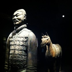 Terracotta warrior exhibit with @ruthieschwab & co. #sf