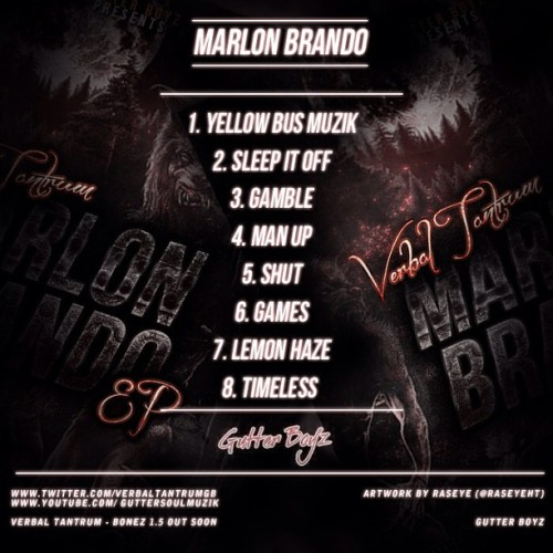 #tracklist #ep #artwork #marlonbrando #music #rap #trap #design @raseyeht #heavytrackerz #backcover