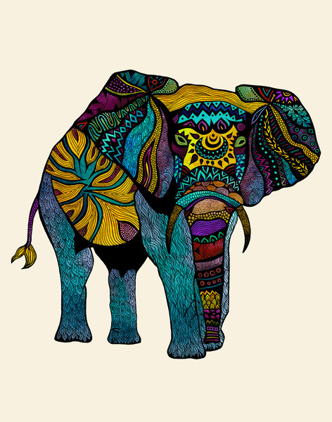 Oh, how I love elephants!  theaestheticengineer:  Pom Graphic Design